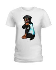 Rottweiler tattoo I Love Mom shirt Ladies T-Shirt thumbnail