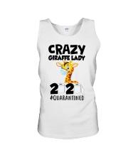Crazy Giraffe lady 2020 quarantined shirt Unisex Tank thumbnail