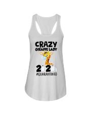 Crazy Giraffe lady 2020 quarantined shirt Ladies Flowy Tank thumbnail
