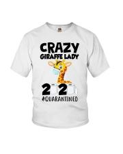 Crazy Giraffe lady 2020 quarantined shirt Youth T-Shirt thumbnail