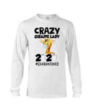 Crazy Giraffe lady 2020 quarantined shirt Long Sleeve Tee thumbnail