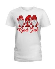 Red Christmas Gnome God Jul shirt Ladies T-Shirt thumbnail