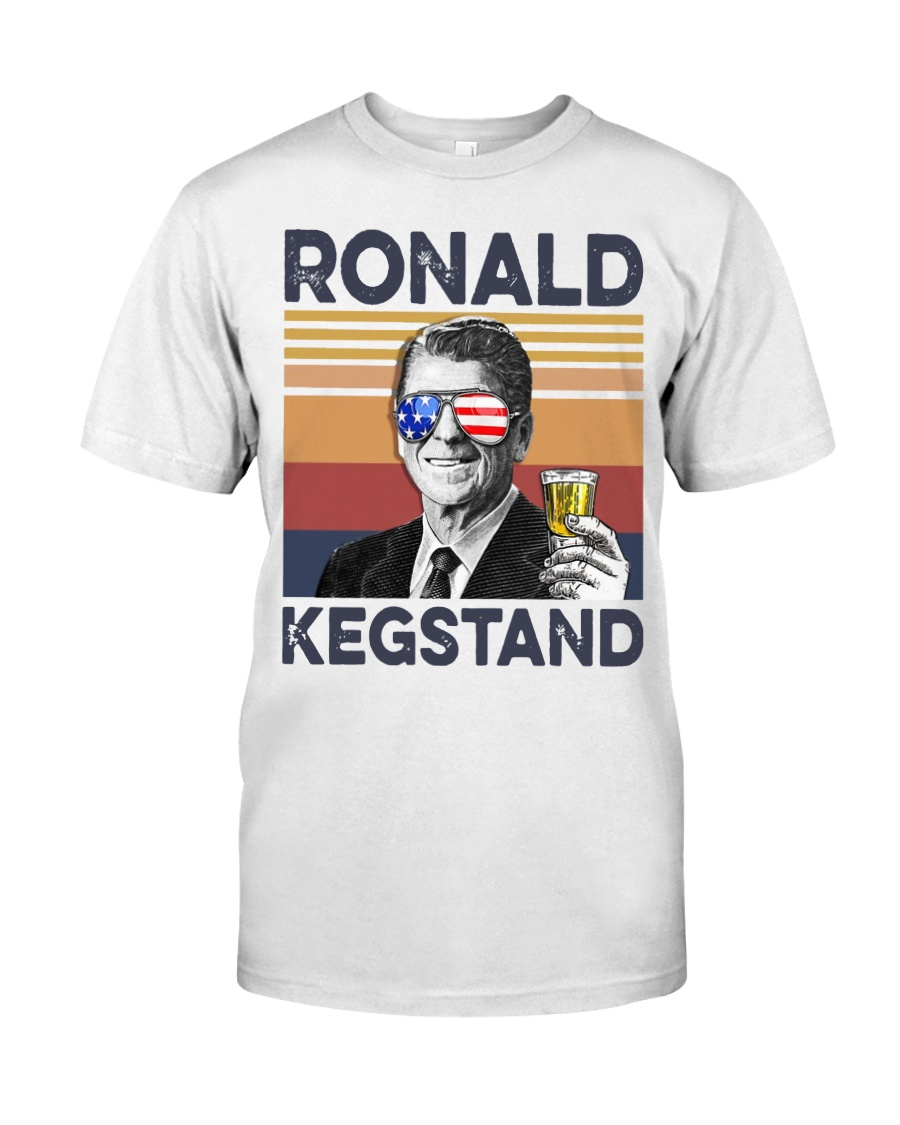 Ronald Kegstand Drink Independence day vintage  Classic T-Shirt