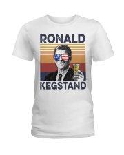 Ronald Kegstand Drink Independence day vintage  Ladies T-Shirt thumbnail
