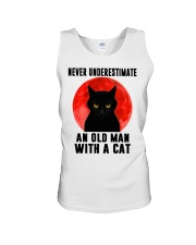Never underestimate and old man with a cat shirt Unisex Tank thumbnail