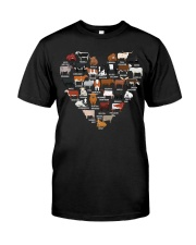 Cows Breed Heart shirt Classic T-Shirt front