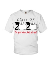 Class of 2020 the year when shit got real T-Shirt Youth T-Shirt thumbnail