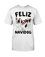 Feliz Navidog French Bulldog Christmas Classic T-Shirt thumbnail