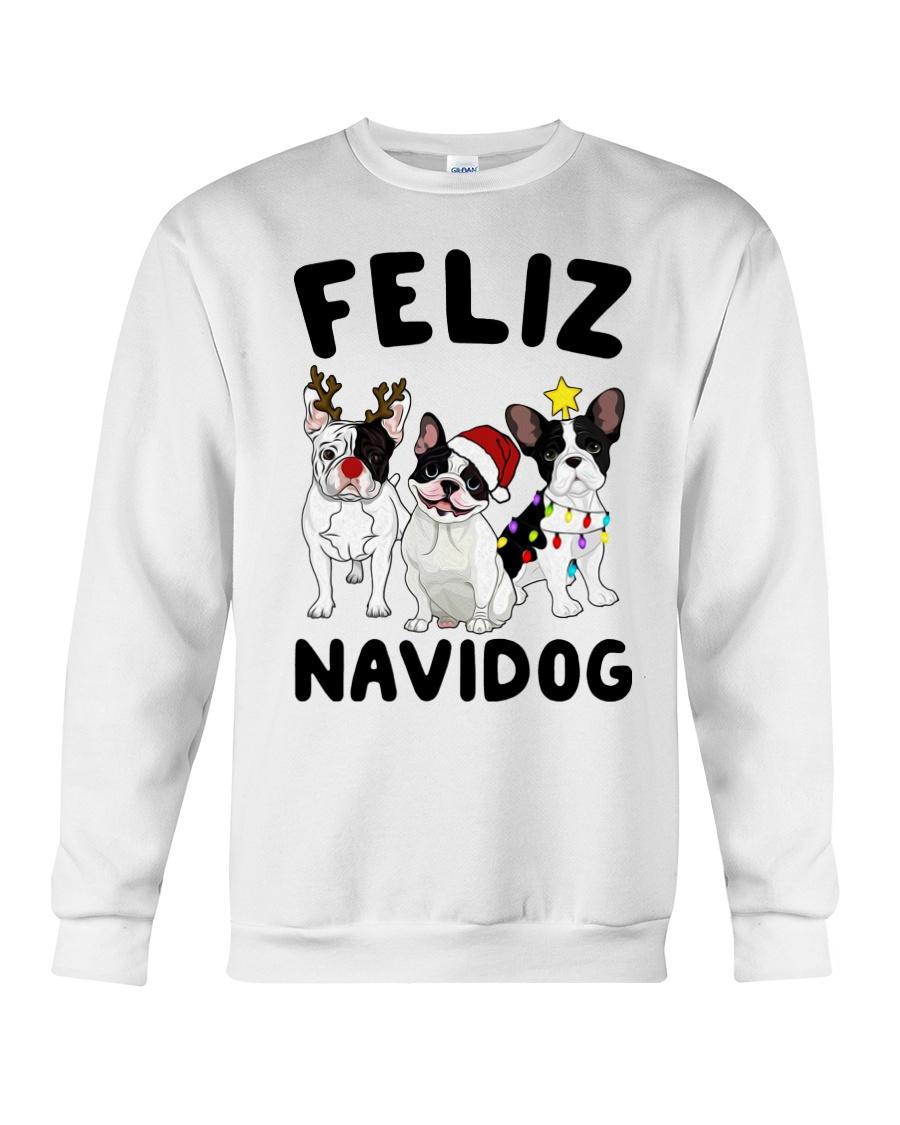 Feliz Navidog French Bulldog Christmas Crewneck Sweatshirt
