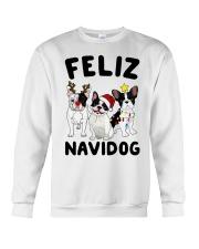 Feliz Navidog French Bulldog Christmas Crewneck Sweatshirt front