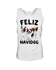 Feliz Navidog French Bulldog Christmas Unisex Tank thumbnail