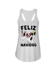 Feliz Navidog French Bulldog Christmas Ladies Flowy Tank thumbnail