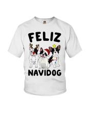 Feliz Navidog French Bulldog Christmas Youth T-Shirt thumbnail