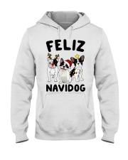 Feliz Navidog French Bulldog Christmas Hooded Sweatshirt thumbnail