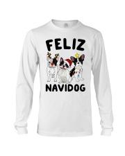 Feliz Navidog French Bulldog Christmas Long Sleeve Tee thumbnail