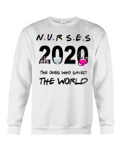 Nurses 2020 the ones who saved the world T-shirt Crewneck Sweatshirt thumbnail