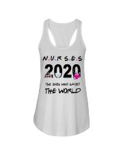 Nurses 2020 the ones who saved the world T-shirt Ladies Flowy Tank thumbnail