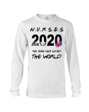 Nurses 2020 the ones who saved the world T-shirt Long Sleeve Tee thumbnail