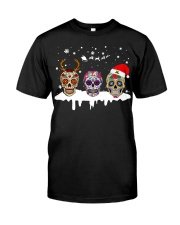 Love Skulls and Tattoos Merry Christmas Classic T-Shirt thumbnail