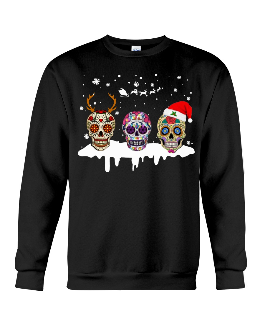 Love Skulls and Tattoos Merry Christmas Crewneck Sweatshirt