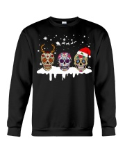 Love Skulls and Tattoos Merry Christmas Crewneck Sweatshirt front