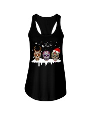 Love Skulls and Tattoos Merry Christmas Ladies Flowy Tank thumbnail