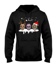 Love Skulls and Tattoos Merry Christmas Hooded Sweatshirt thumbnail