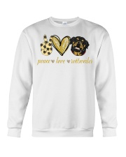 Peace love Rottweiler shirt Crewneck Sweatshirt thumbnail