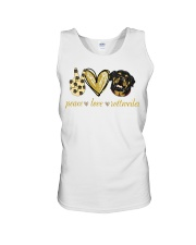 Peace love Rottweiler shirt Unisex Tank thumbnail