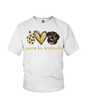 Peace love Rottweiler shirt Youth T-Shirt thumbnail