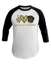 Peace love Rottweiler shirt Baseball Tee thumbnail