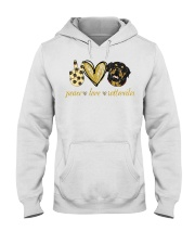 Peace love Rottweiler shirt Hooded Sweatshirt thumbnail