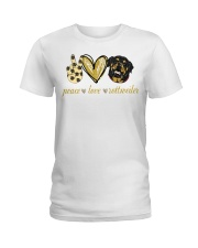 Peace love Rottweiler shirt Ladies T-Shirt thumbnail