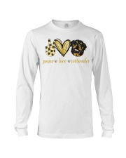 Peace love Rottweiler shirt Long Sleeve Tee thumbnail
