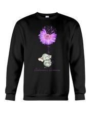 Elenphant Faith for alzheimer awarebess shirt Crewneck Sweatshirt thumbnail