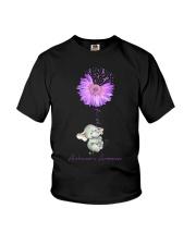 Elenphant Faith for alzheimer awarebess shirt Youth T-Shirt thumbnail