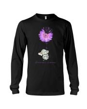 Elenphant Faith for alzheimer awarebess shirt Long Sleeve Tee thumbnail