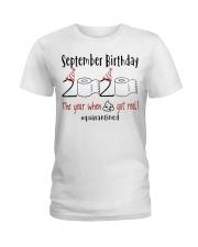 September Birthday 2020 Quarantined T-shirt Ladies T-Shirt thumbnail