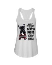 French Bulldog Happy Father's day to my amazing  Ladies Flowy Tank thumbnail