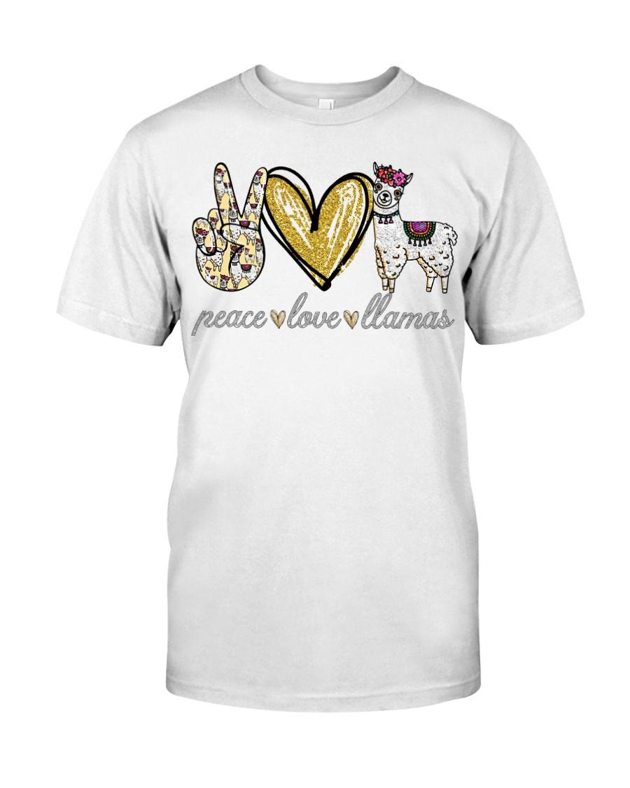 Peace love cure Llamas shirt Classic T-Shirt