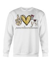 Peace love cure Llamas shirt Crewneck Sweatshirt thumbnail