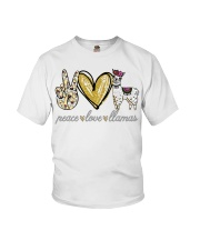 Peace love cure Llamas shirt Youth T-Shirt thumbnail