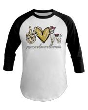 Peace love cure Llamas shirt Baseball Tee thumbnail
