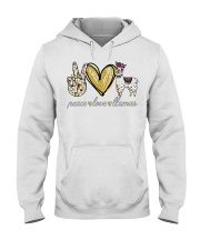Peace love cure Llamas shirt Hooded Sweatshirt thumbnail