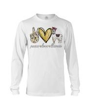 Peace love cure Llamas shirt Long Sleeve Tee thumbnail