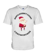 Santa Doesn't Count Chromosomes shirt V-Neck T-Shirt thumbnail