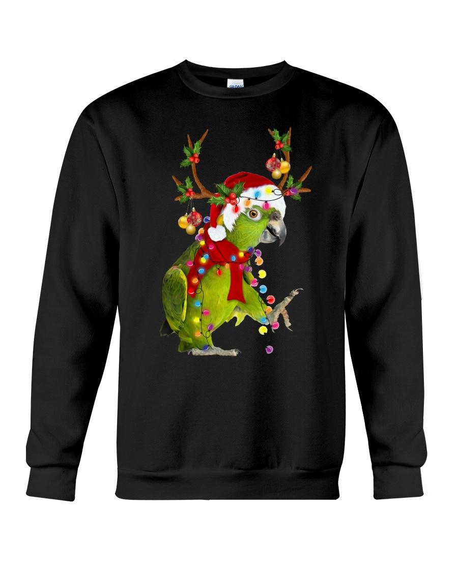 Parrot light Merry Christmas Crewneck Sweatshirt