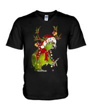 Parrot light Merry Christmas V-Neck T-Shirt thumbnail
