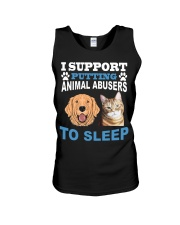 I support putting animal abusers to sleep shirt Unisex Tank thumbnail