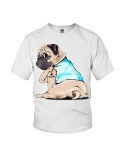 Pug I love mom shirt Youth T-Shirt thumbnail
